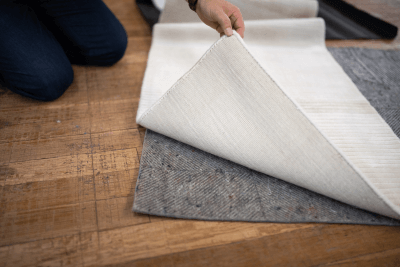 Grooves in pad Dura-hold Rug pad